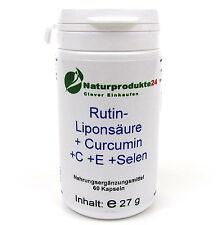 Rutin-Liponsäure + Curcumin + Vitamin C  + Vitamin E + Selen - 60 Kapseln
