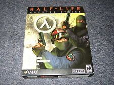 HALF LIFE Counter Strike BIG BOX COMPLETE Original PC SIERRA Windows 95/98