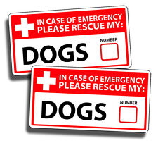 TWO DOG Emergency Pet Rescue Vinyl Decal Sticker 1st First Responder FIRE Safety