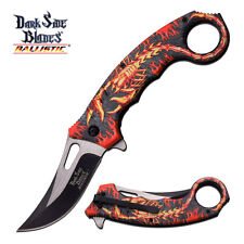 Dark Side Blades Red Fire Scorpian Spring Assist Assisted Knife Knives #A052