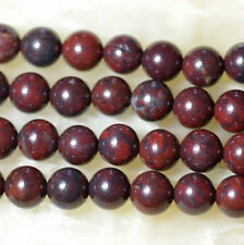 AAA+ Natural 8mm Bloodstone Round Loose Beads 15''