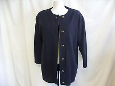 "Ladies Cardigan South Lodge S/M black side pockets chest 42"" length 29"" 0767"