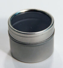 Metal Container 1 1/2'' round by 1 1/2'' Deep Plastic Window