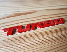 RED Metal Chrome 3D TURBO Emblem Badge Sticker for Toyota Supra Rav4 GT86 Previa