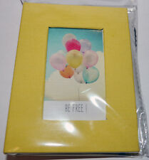 20 Pocket Album for Fujifilm Instax Mini photos 8.5 x 5.5cm in Yellow (UK Stock)