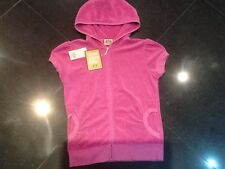 "NWT Juicy Couture New & Genuine Ladies Medium Cotton Hoody With ""J"" Pull"