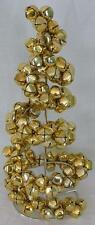 Spiral Metal Gold Jingle Bells Tabletop Christmas Tree 12 inches Tall