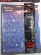 ULTRA PRO POKEMON SILHOUETTES ENERGY PRO-BINDER CARD HOLDER + 20 PAGES FOR CARDS
