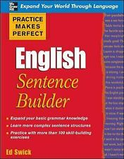 Practice Makes Perfect English Sentence Builder (Practice Makes Perfect Series),