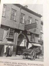 Ephemera 1954 Picture The King's Arms Kendal  M5015