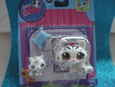 ORIGINAL Littlest Pet Shop  #3585 #3586 Mommy & Baby Crouching Tiger Kitty Cats