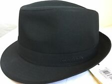 STETSON GINSBURGH WATER RESISTANT RAIN HAT TRILBY BLACK S 55cm