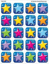 120 Colourful Stars School Teacher Reward Stickers - Great 4 Charts - TCR5742