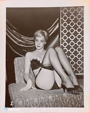 VTG 50s VIRGINIA ROGERS RISQUE PINUP PHOTO IN HEELS & NYLONS BY ELMER BATTERS #6