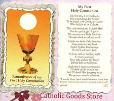 Remembrance of my 1st Holy Communion  - Scalloped trim - Paperstock Holy Card