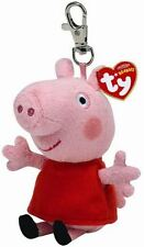 "Peppa Pig - 4"" TY Beanie Peppa Pig Key ring - Collectable Soft Plush Toy"