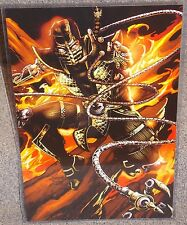 Mortal Kombat Scorpion Glossy Print 11 x 17 In Hard Plastic Sleeve