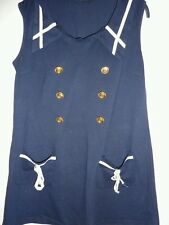 Pussycat London  navy blue sailor style dress. M