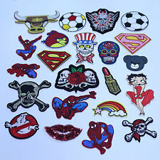 Wholesale Lovely Cartoon 5pcs Lot Iron on Embroidered Patchs DIY Accessories