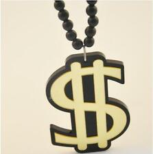 Awesome Dollar Sign Statement Acrylic Necklace Gangster Boss Gangsta Xmas Gift