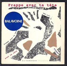 DANIEL BALAVOINE FRAPPE AVEC TA TÊTE 45T SP 1983 BARCLAY 889.142