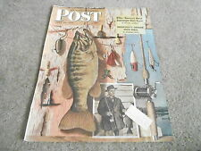 JUNE 29 1946 SATURDAY EVENING POST vintage magazine cover print - FISHING