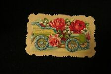 Vintage AUTOMOBILE Victorian Calling Card early 1900s Germany