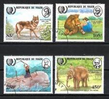 Animaux Faune sauvage Niger (105) série complète 4 timbres oblitérés