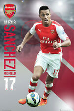 Rare ALEXIS SANCHEZ SUPERSTAR Arsenal FC Soccer Action Wall POSTER