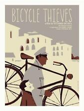 BICYCLE THIEVES MOVIE POSTER LIMITED EDITION SILKSCREEN BY IKER AYESTARAN