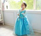 Mädchen Kinder Frozen Anna Elsa Prinzessin Cosplay Kostüm Party Festkleid
