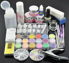 Acrylic Powder Glitter Nail Brush False Finger Pump Nail Art Tools Kit Set 777