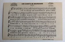 CPSM. Chanson. Les Cadets de Bourgogne. Marche. 1933. Max Cappe.