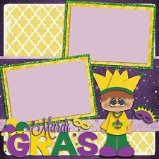 Premade-Double Page-Scrapbook Layouts- New Orleans Mardi Gras Kids - 758