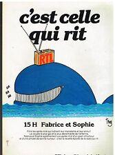 Publicité Advertising 1981 Radio RTL Fabrice et Sophie