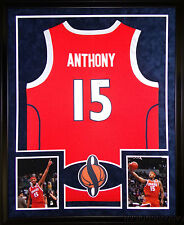 Carmelo Anthony Framed Jersey Signed Steiner COA Autographed Syracuse New Yor...