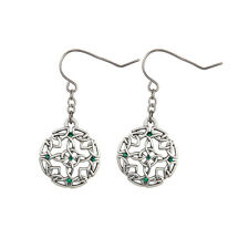 Round Celtic Knot Dangle Earrings. Set of 2. Premium Jewelry.Gorgeous!