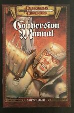 AD&D 2nd Edition to 3.0 CONVERSION MANUAL WotC TSR Dungeons & Dragons 3rd D20 NM