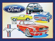 Ford, Retro metal Aluminium Sign vintage Cars man cave shed