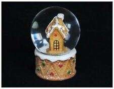 Gisela Graham Nordic Gingerbread House Snow Dome Globe Christmas Decoration Gift