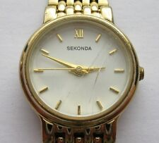 Sekonda Quartz Gold Ladies Wrist Watch With Gold Chain Bracelet and Buckle Clasp