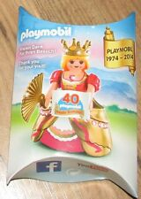 Playmobil 1974-2014 40th Happy birthday Queen Princess Figure crown fan rare
