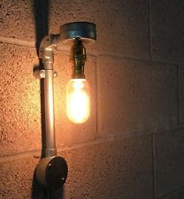Vintage Retro Industrial Farmhouse Rustic Style Light Fitting Pipe Wall Lighting