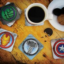 Official Marvel Avengers 3D Lenticular Coaster set - 8 Avengers Drinks Coasters