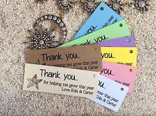 10 White Gift Tags Teacher Favour Bomboniere Personalised Thank you Child