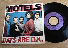"""French 7"""" The Motels Days are O.K. / Slowtown 1980 EXC"""