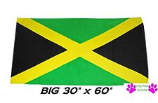 "JAMAICA JAMAICAN Country Flag Banner Big 30x60""COTT​ON BATH POOL BEACH TOWEL WRA"