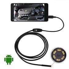 2M Android Endoscope 7mm 6 LED USB Waterproof Borescope Inspection camera new