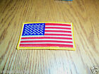 Made in USA American Flag Embroidered Patch 3.5 x 2.25 Sew/Iron On NEW Ship Free