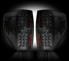 2009-2014 Ford F-150 & SVT Raptor Rear LED Tail Lights with Smoked Lens Finish